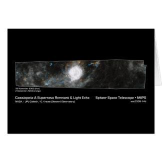Cassiopeia A Supernova Remnant & Light Echo NASA Greeting Cards