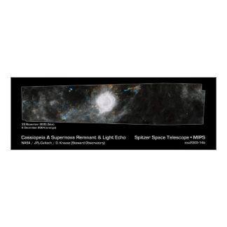 Cassiopeia A Supernova Remnant & Light Echo Posters