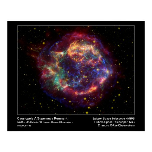 Cassiopeia A Supernova Remnant-Spitzer Telescope Posters