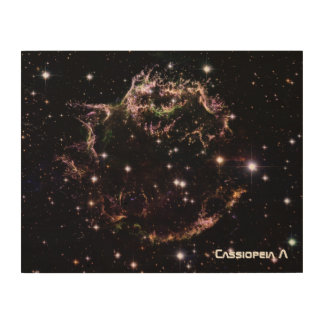 Cassiopeia A Wood Canvases