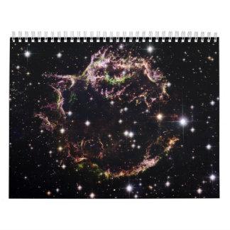 Cassiopeia Al remanente de la supernova - marzo de Calendarios De Pared