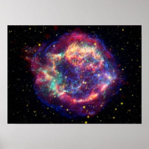 Cassiopeia Al remanente de la supernova Póster