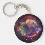 Cassiopeia Constellation Basic Round Button Keychain