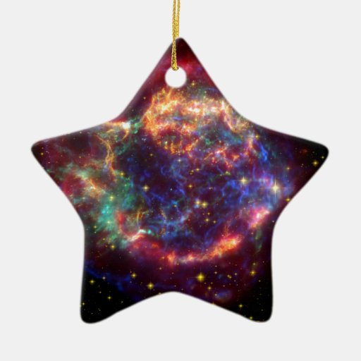 Cassiopeia Constellation Double-Sided Star Ceramic Christmas Ornament