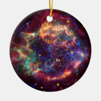 Cassiopeia Constellation Double-Sided Ceramic Round Christmas Ornament