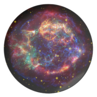Cassiopeia Constellation Party Plate