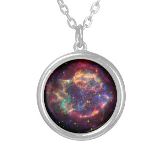 Cassiopeia Constellation Silver Plated Necklace