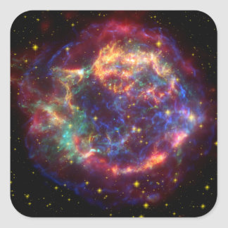 Cassiopeia Constellation Square Sticker