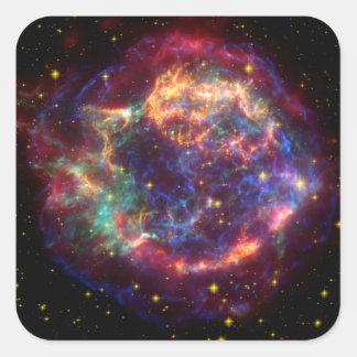 Cassiopeia Constellation Square Stickers