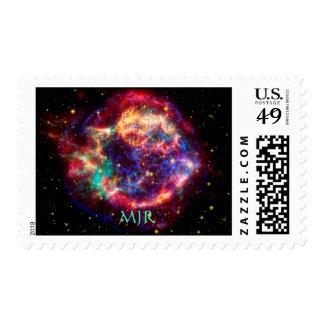 Cassiopeia del monograma, la supernova más joven sello