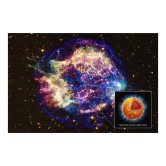 Cassiopeia el remanente de la supernova una estrel fotografía