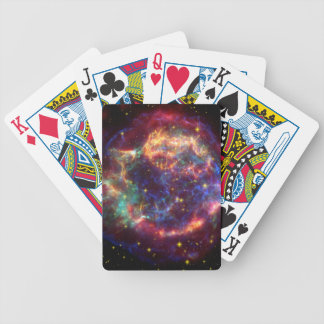 Cassiopeia Galaxy Supernova remnant Bicycle Playing Cards