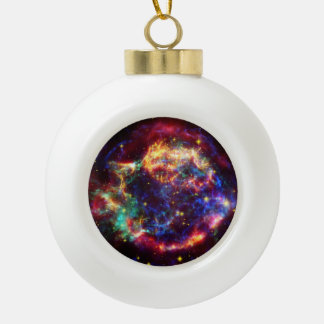 Cassiopeia Galaxy Supernova remnant Ceramic Ball Christmas Ornament