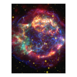 Cassiopeia Galaxy Supernova remnant Letterhead