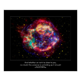 Cassiopeia, la supernova más joven de las vías póster