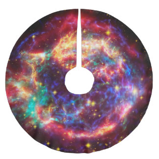 Cassiopeia, Milky Ways Youngest Supernova Brushed Polyester Tree Skirt
