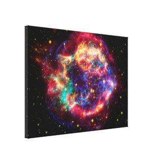 Cassiopeia, Milky Ways Youngest Supernova Canvas Print