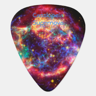 Cassiopeia, Milky Ways Youngest Supernova Guitar Pick