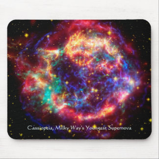 Cassiopeia, Milky Ways Youngest Supernova Mouse Pad