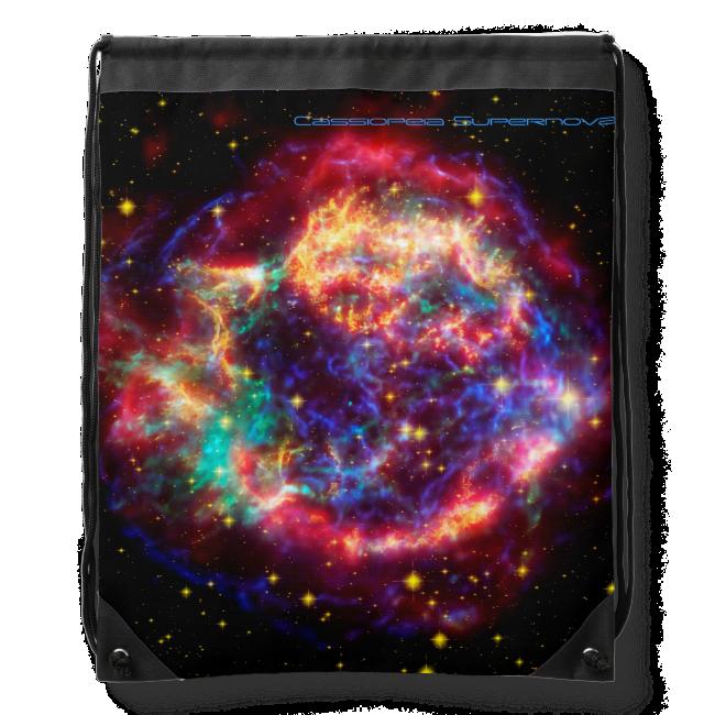 Cassiopeia, Milky Ways Youngest Supernova Drawstring Bag