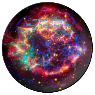 Cassiopeia, Milky Ways Youngest Supernova Porcelain Plate