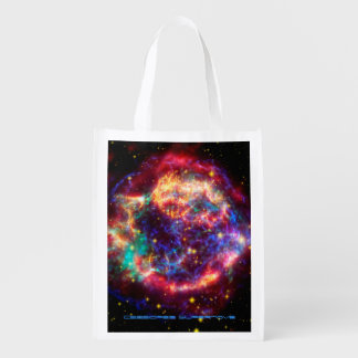 Cassiopeia, Milky Ways Youngest Supernova Reusable Grocery Bag