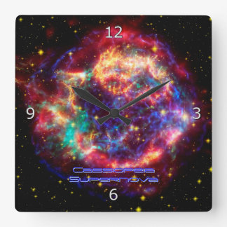 Cassiopeia, Milky Ways Youngest Supernova Square Wall Clock