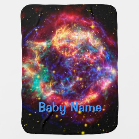 Cassiopeia, Milky Ways Youngest Supernova Stroller Blanket