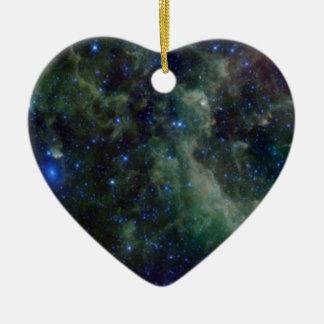 Cassiopeia nebula within the Milky Way Galaxy Ceramic Ornament