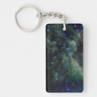 Cassiopeia nebula within the Milky Way Galaxy Double-Sided Rectangular Acrylic Keychain