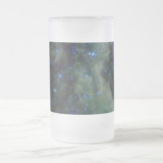 Cassiopeia nebula within the Milky Way Galaxy Frosted Glass Beer Mug