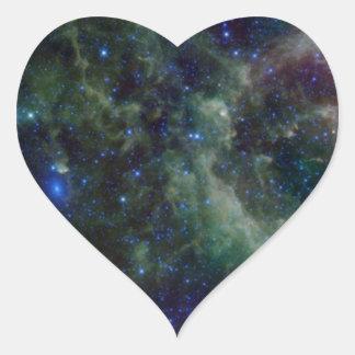 Cassiopeia nebula within the Milky Way Galaxy Heart Sticker