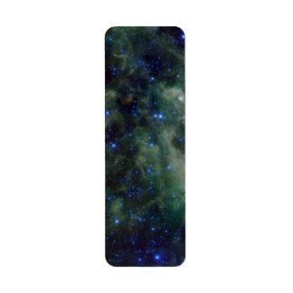 Cassiopeia nebula within the Milky Way Galaxy Label