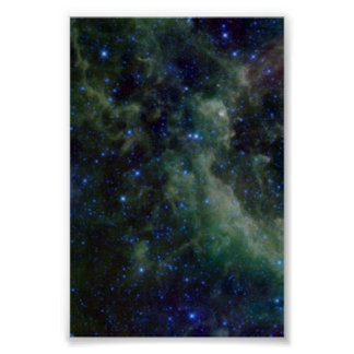 Cassiopeia nebula within the Milky Way Galaxy Poster