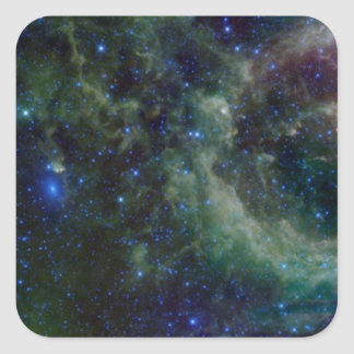 Cassiopeia nebula within the Milky Way Galaxy Square Sticker