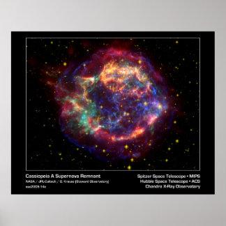 Cassiopeia un telescopio el Remanente-Spitzer de l Posters