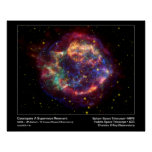 Cassiopeia un telescopio el Remanente-Spitzer de l Póster