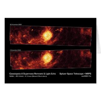 Cassiopeia una NASA el remanente de la supernova y Tarjetas