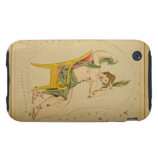 Cassiopeia - Vintage Astronomical Star Chart Image iPhone 3 Tough Case