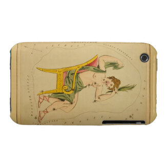 Cassiopeia - Vintage Astronomical Star Chart Image iPhone 3 Cases