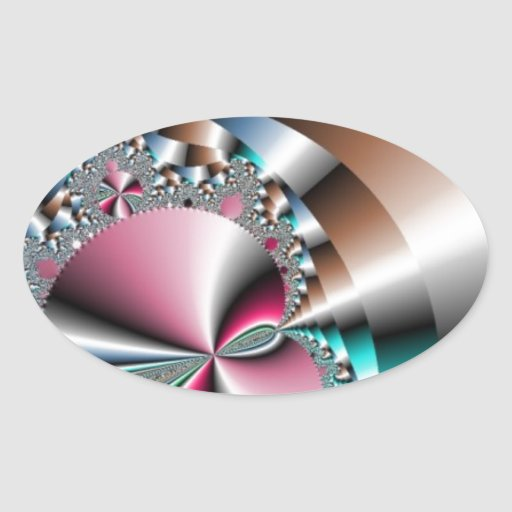 Casson de plata de la corriente pegatina ovalada