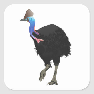 Cassowary Bird Square Sticker