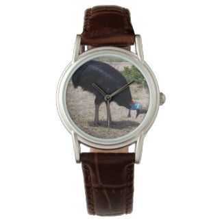 Cassowary_Bug_Eliminator_Ladys_Brown_Leather_Watch Watch