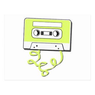 Casssette retro tarjetas postales