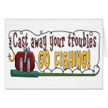 Cast Away Your Troubles Greeting Card