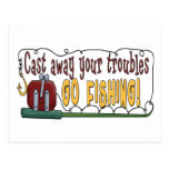 Cast Away Your Troubles Postcard