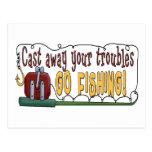 Cast Away Your Troubles Postcard