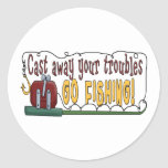 Cast Away Your Troubles Stickers