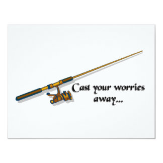 Cast away your worries 4.25x5.5 paper invitation card