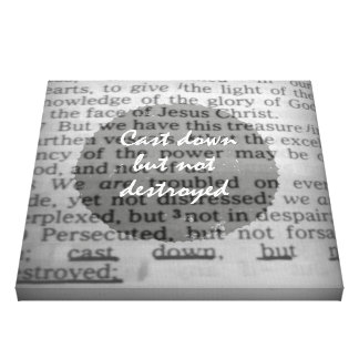 Cast down but not Destroyed Bible Verse Canvas Print